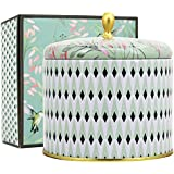 LA JOLIE MUSE Scented Candles 14Oz Aromatherapy Natural Soy Wax Large Tin Candle 2 Wicks, White Tea, Gift Candle for Valentine's Day