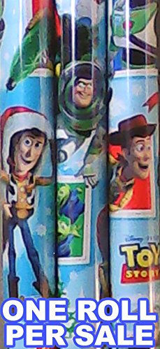 American Greetings - Toy Story Christmas Wrapping Paper - 20 Square Feet - 6 Feet x 3.33 Feet