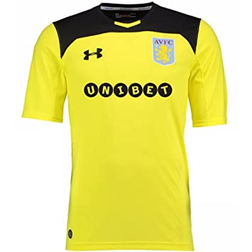 0c4cc32c063 Under Armour Aston Villa Adult Replica Home Goalkeeper Shirt 2017-18 ...