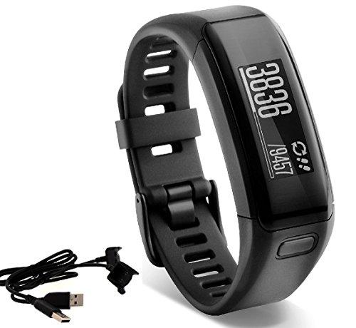 Garmin vívosmart HR Activity Tracker Regular Fit – Black, with Extra Charger