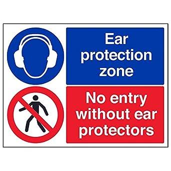 VSafety 41102BF-R - Lote de 3 señales de protección para los ...