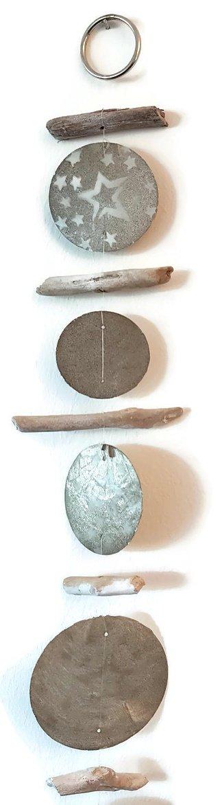 Bada Bing 2er Set Capiz Girlande H/ängedeko Perlmuttscheiben Holzstifte 170 cm