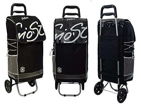 GiòStyle Carro para la compra con ruedas y bolsa térmica. Capacidad: 50 litros. Plegable.: Amazon.es: Hogar