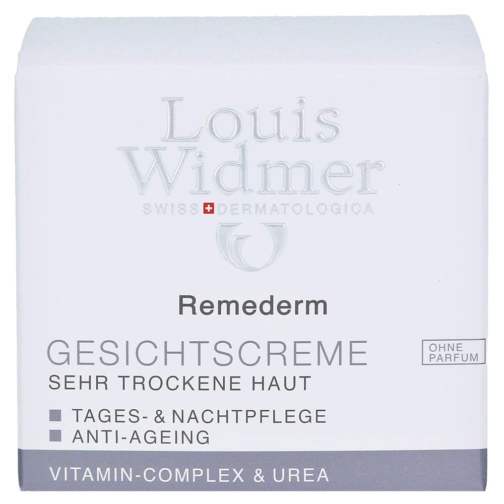 Louis Widmer Remederm Face Cream for Very Dry Skin Day and Night Care Anti-ageing Non-scented 50 ml
