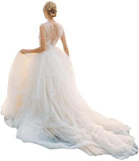 Detachable Long Train Tutu Overskirt Wedding Bridal OverOverskirt Ruffle Dress Cover
