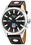 ball engineer master ii - Ball Engineer II Union Pacific Big Boy Limited Edition Day Date Black Face Swiss Automatic Brown Leather Strap Mens Watch NM1080C-L2-BK
