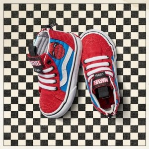Vans Kids X Marvel SK8-Hi Zip Skate Shoes (5 M US Toddler, (Marvel) Spider-Man/True White) -