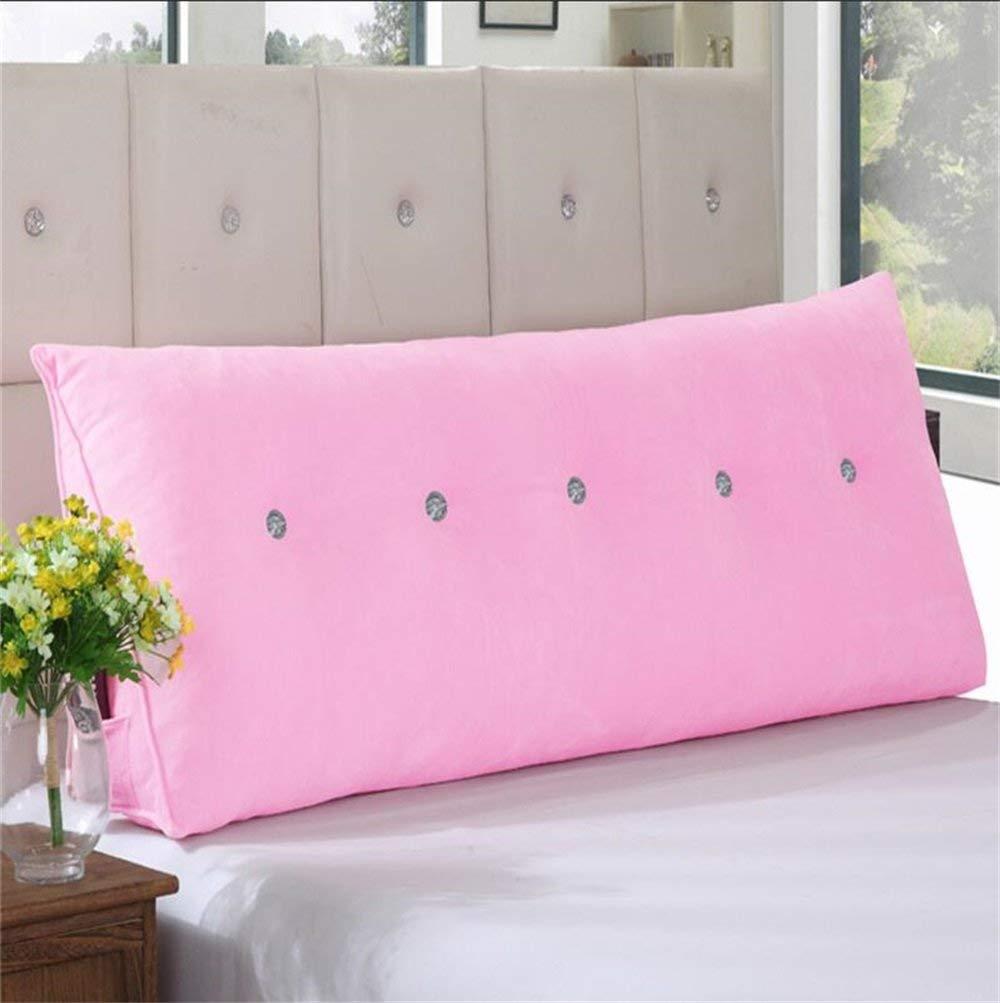 Lts 実用的なオフィスのベッドサイドソファのウエストクッション三角形のベッドサイドクッション取り外し可能と洗えるシングル/ダブルソリッドカラーピローベッド背もたれソファソフトバッグクッションを読むDddlt-枕とクッション (Color : ピンク, サイズ : 40*30*20cm) B07SF5KNLV ピンク 40*30*20cm