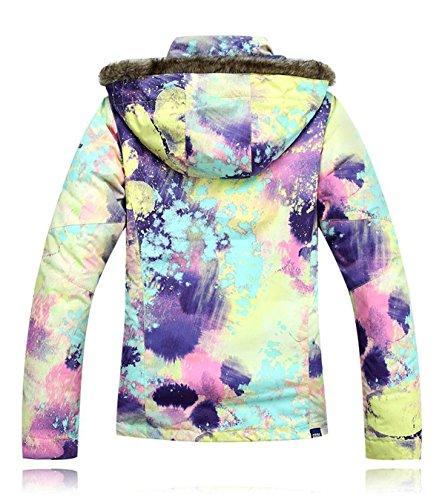 APTRO Women's High Windproof Technology Colorfull Printed Ski Jacket Style #21 Size M by APTRO (Image #2)