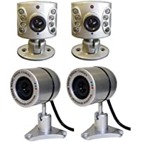 Wisecomm OC9604 Mini Indoor Night Vision Color Security Camera with Audio - Mini - 4 Pack (Silver)