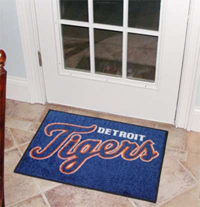 Detroit Tigers Floor Rug (MLB Detroit Tigers Baseball Starter Mat)