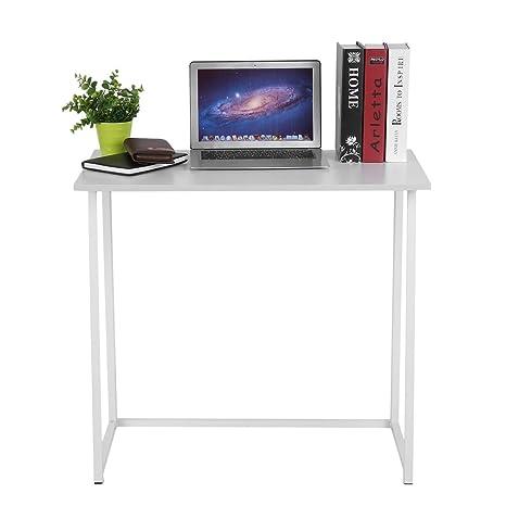 ICOCO Mesa de escritorio plegable para ordenador (color blanco)