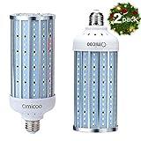 Omicoo 50W(500W Equivalent) LED Corn Light Bulb, 5000 high lumen led bulb 240 LED Beads Super Bright Daylight White E26/A19 Base,Energy-Saving corn cob led for Garage Factory Warehouse Bay Barn(2 PCS)
