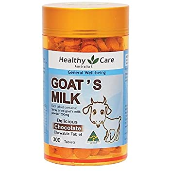 Amazon Com Healthy Care Goat Milk 300 Chewable Tablets Chocolate