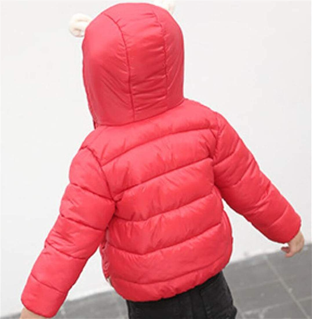 Pandapang Girls Outwear Bubble Winter Zip-Up Boys Hooded Outwear Down Coat Jacket