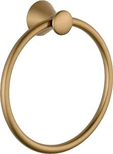 Delta Faucet Bathroom Accessories 73846-CZ Lahara Hand Towel Ring, Champagne Bronze