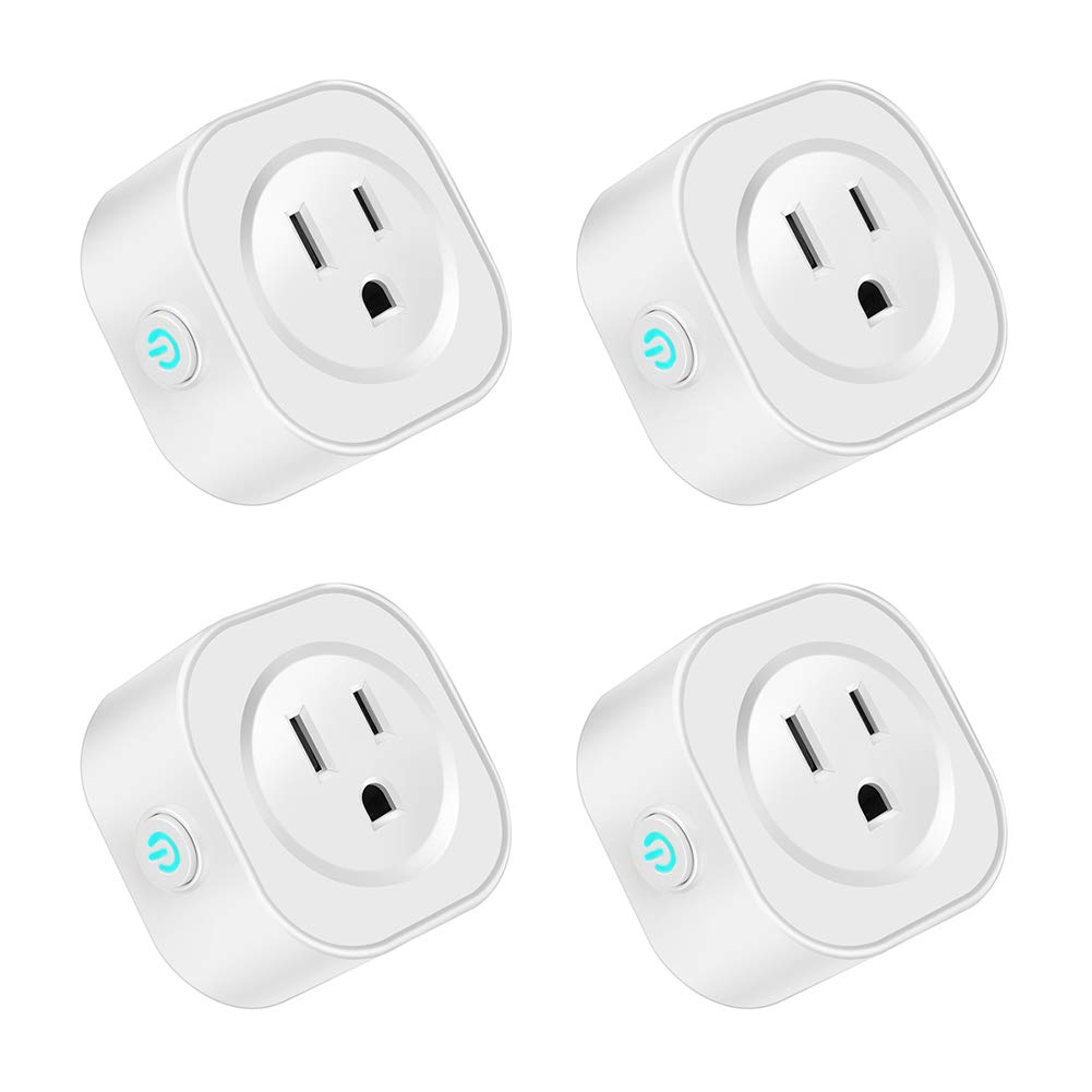 WiFi Smart Plug Mini,Gorod Wireless Smart Socket Compatible With Alexa Echo,Google Home,IFTTT for Voice Control,Remote Control your Devices with Timing Function from Anywhere,No Hub Required (4 Packs)