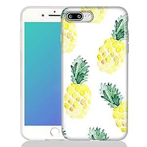 Watercolor pine1ple 1ple iPhone 7 plus/8 plus Case Shock-proof Matte TPU Soft Silicone Case-Yellow