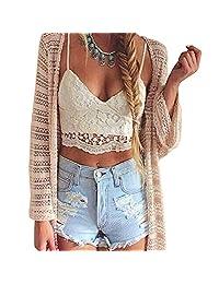 Women Crochet Cami Tank Camisole Lace Floral Vest Bralette Blouse Bra Crop Top