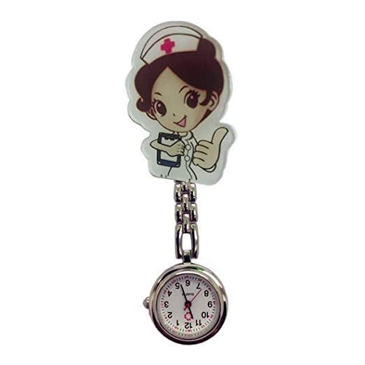 Godagoda - Reloj de Bolsillo para Enfermera, diseño de Doctor: Amazon.es: Relojes