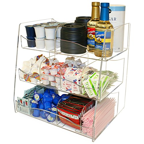 Condiment Organizer for a Very Professional Coffee Presentation. Has 10 Compartments. Made in the USA. by PPM by Plastic & Products Marketing PPM