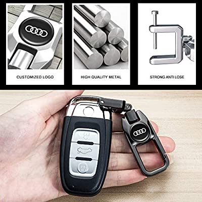 Goshion 2Pack Car Logo Keychain Suit for Audi A1 A3 A4 A5 A6 A7 A8 Q5 Q7 R8 S5 S7 Q5 RS Key Chain Keyring Family Present for Man and Woman: Automotive