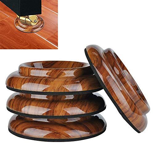 Piano Caster Cups,TOPCHANCES Premium 4 Pcs Upright Piano Caster Pads w/EVA Anti-Slip & Anti-Noise Foam Mat, ABS Plastic Coasters Cups Piano Leg Pad for Upright Piano (Rose Wood Grain ABS Plastic)