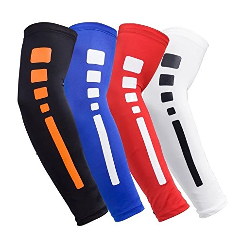 RUN WILD U/V Arm Sleeve Breathable Sport Sleeve Great for Basketball, Baseball, Running, Cycling, Football, Fitness Safety Arm Protector – DiZiSports Store