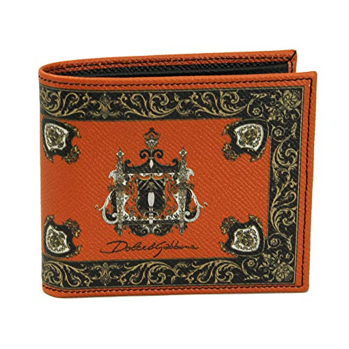 Dolce & Gabbana Men's Leather Bi-fold Wallet BP1321 AI475