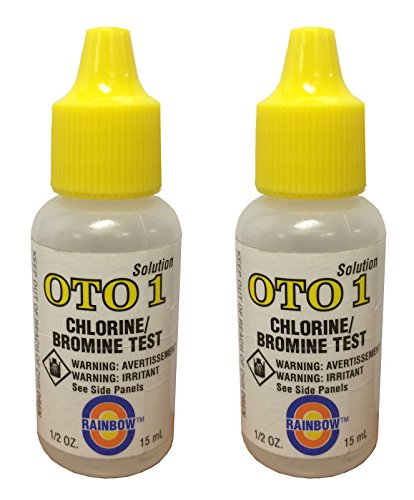 Pentair 2 Rainbow Pool Spa OTO 1 Chlorine Bromine Test Kit Solutions .5 Oz ()