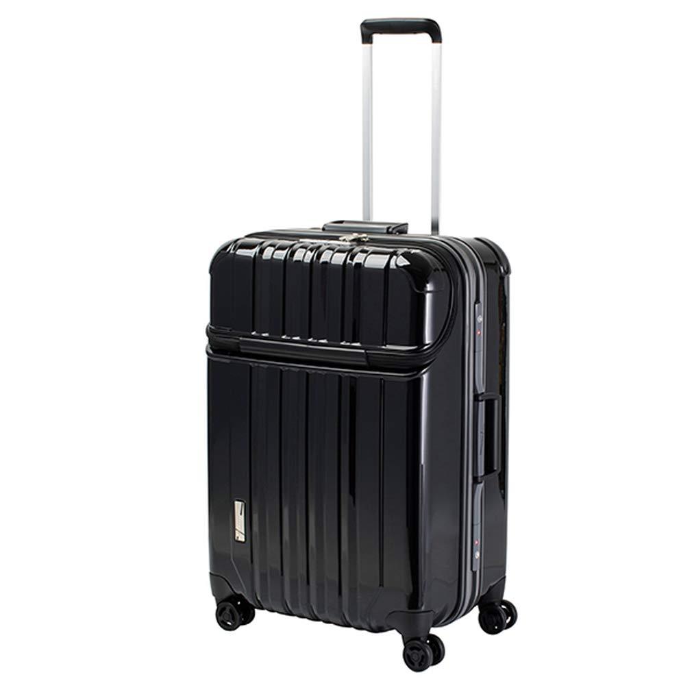 トラベリスト TRAVELIST トップオープン スーツケース 76-20421 トラストップ 75L ブラック 代引き不可[bg]   B07KHMVS8R