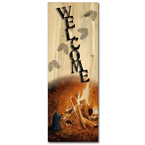 - WGI-GALLERY W-EC-824 Evening Campfire Welcome Wall Art
