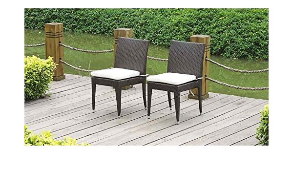 talfa Polirratán Bistro – Juego de sillas suni (2 x), marrón ...