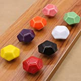 Sytian® 8pcs Candy Color Diamond Shape Ceramic Drawer Knobs Furniture Dresser Cabinet Cupboard Wardrobe Knobs Pull Handles - With Screw