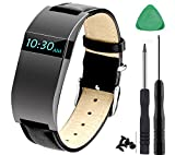 KingBaas for Fitbit Charge HR Strap, Adjustable Watch Replacement Accessories Bands for Fitbit Charge HR/Charge HR Band, Black