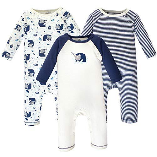 Touched by Nature  Unisex Baby Organic Cotton Coveralls and Union Suits, Woodland 3-Pack, 18-24 Months (24M),Baby Boys]()