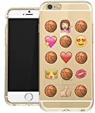 iPhone 8 / iPhone 7 Clear Case Basketball Novelty Emoji Funny Princess Love Basketball Case For Teens Girls UNIQUE Designer CLEAR Transparent Gloss Candy TPU Flexible Slim case Cover Skin for Apple