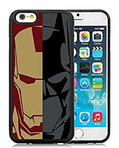 Beautiful Designed Cover Case With Iron Man Black Case for iPhone 6 4.7 inch T1