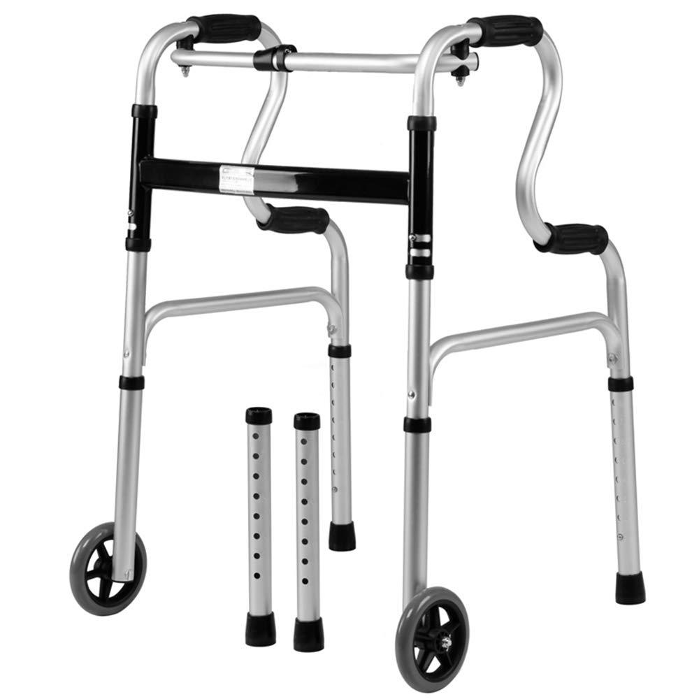 XXHDEE Folding Walker Multifunctional Aluminum Walker Cane No Seat Elderly Support Walking Training Rehabilitation Equipment Walking aids by XXHDEE