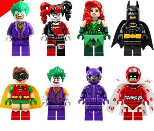 [gonggamtop LOts 8 SuperHeros BuildingBlocksToy Poison Ivy JokerClown RobinCatwoman figures] (Diy Star Wars Dog Costumes)
