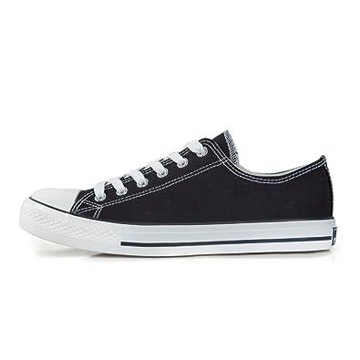 Männer Schuhe low Cut im Sommer/ schwarz-weiß-Paare Schuhe/Student Bordschuhe-D Fußlänge=25.3CM(10Inch) OknKxv