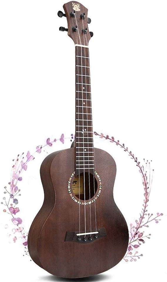 Loivrn 65 cm Agujero de caoba Kit de inicio de guitarra de cuerda ...