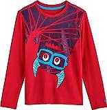 Coolibar UPF 50+ Kids' Graphic T-Shirt - Sun Protective (Small- Navy Monster)