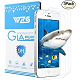 "WZS [3-Pack] iPhone 5S / 5 / SE Screen Protector,Premium Tempered Glass with 99.99% HD Clarity and 3D Touch Accuracy, Tempered Glass Screen Protector for iPhone 5S / 5 / SE / 5C [4"" inch]"