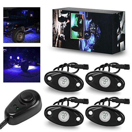 LED Rock Lights Kit with Dimmer Switch, YITAMOTOR 4 Pods Sin
