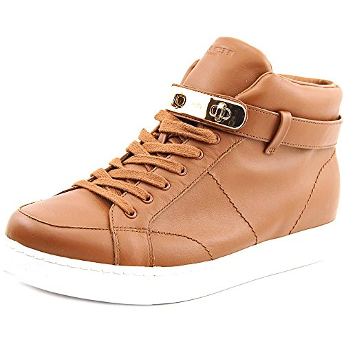 Coach Womens Richmond Swagger Hi Top Wedge Sneaker Zadel Soft Nappa