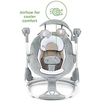 Ingenuity, Townsend 2 in 1 Babyschaukel und -sitz, zusammenklappbar, mit Vibrationen, 5 Schaukelgeschwindigkeiten, mehr als 8 Melodien und Lautstärkeregler 2