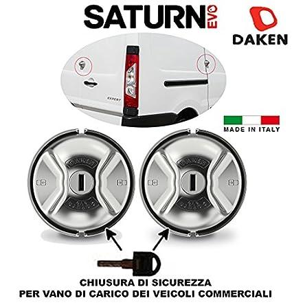 Daken - Par de 2candados para furgoneta anti-robo Saturn Evo tipo Meroni