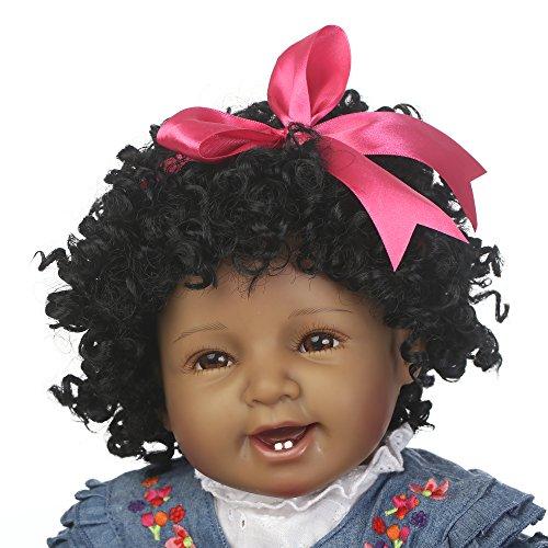 6ba771e8a NPK Reborn Baby Doll Girls African American Girl Black Doll 22