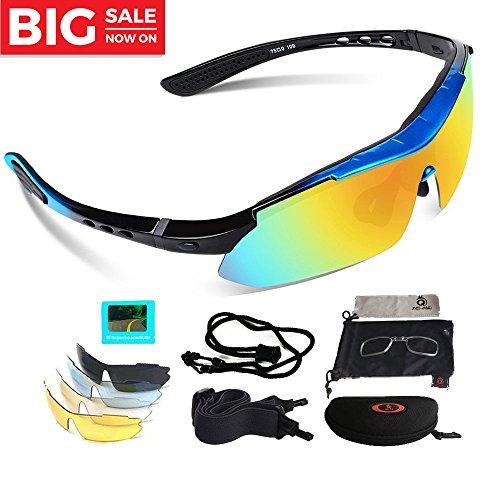 VILISUN Polarized Sports Sunglasses Eyewear for Adult, With 5 Interchangeable Lenses (Interchangeable Eyewear)